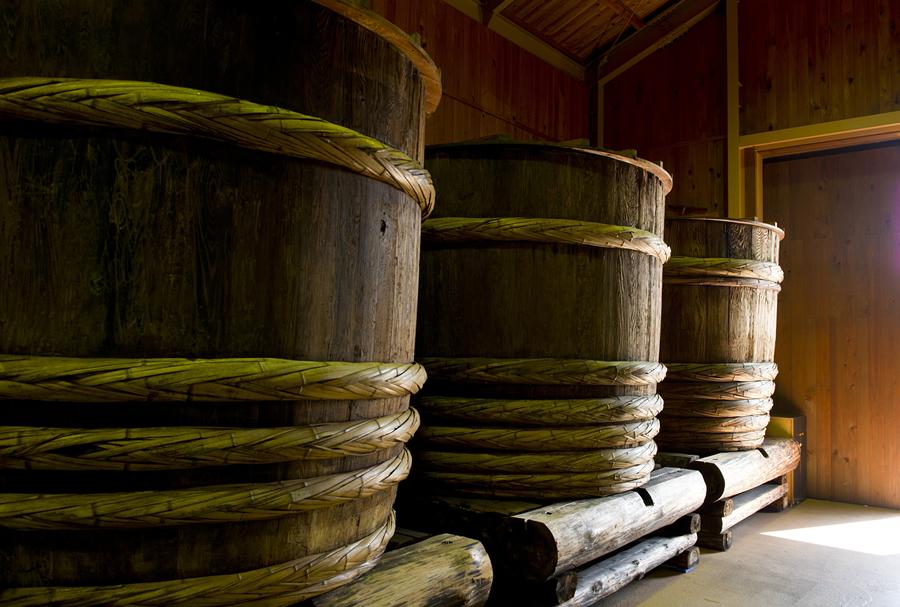 醤油を寝かせる木樽