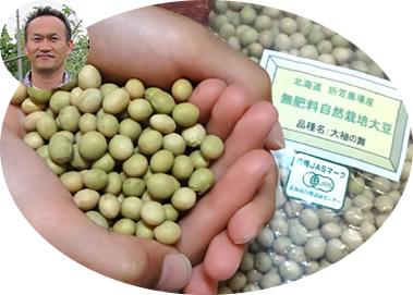 北海道 折笠農場産 「大袖の舞」(無肥料自然栽培大豆) 有機JAS認定品