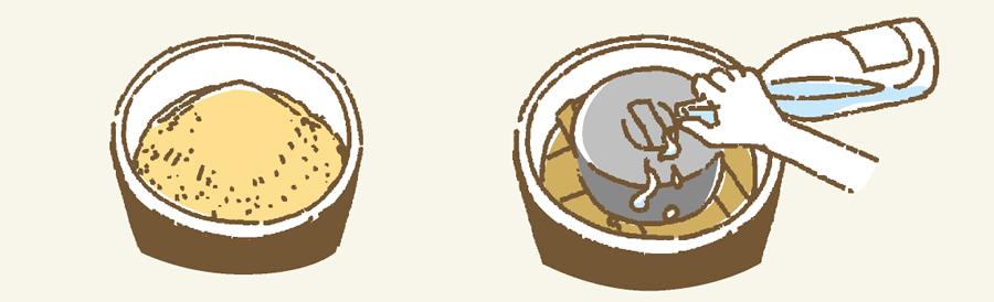味噌の作り方5のイラスト